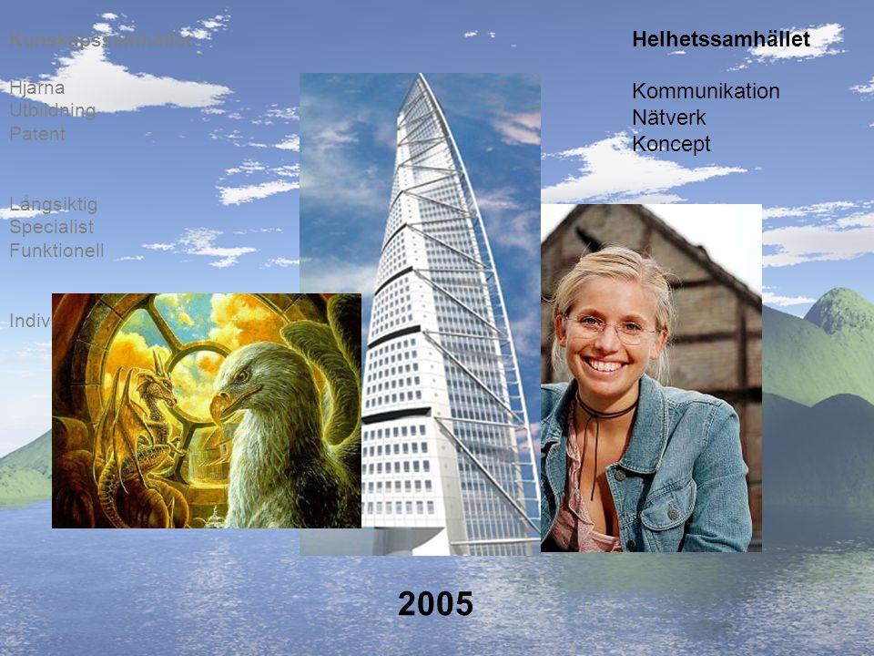 2005 Individer Långsiktig Specialist Funktionell Hjärna Utbildning Patent Kunskapssamhället Helhetssamhället Kommunikation Nätverk Koncept