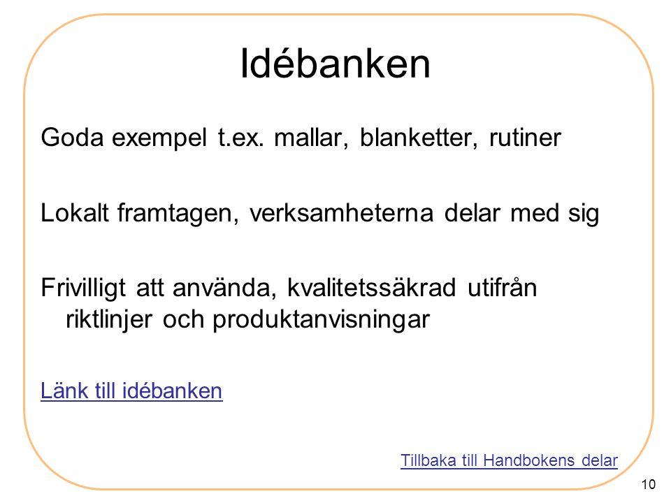 10 Idébanken Goda exempel t.ex.