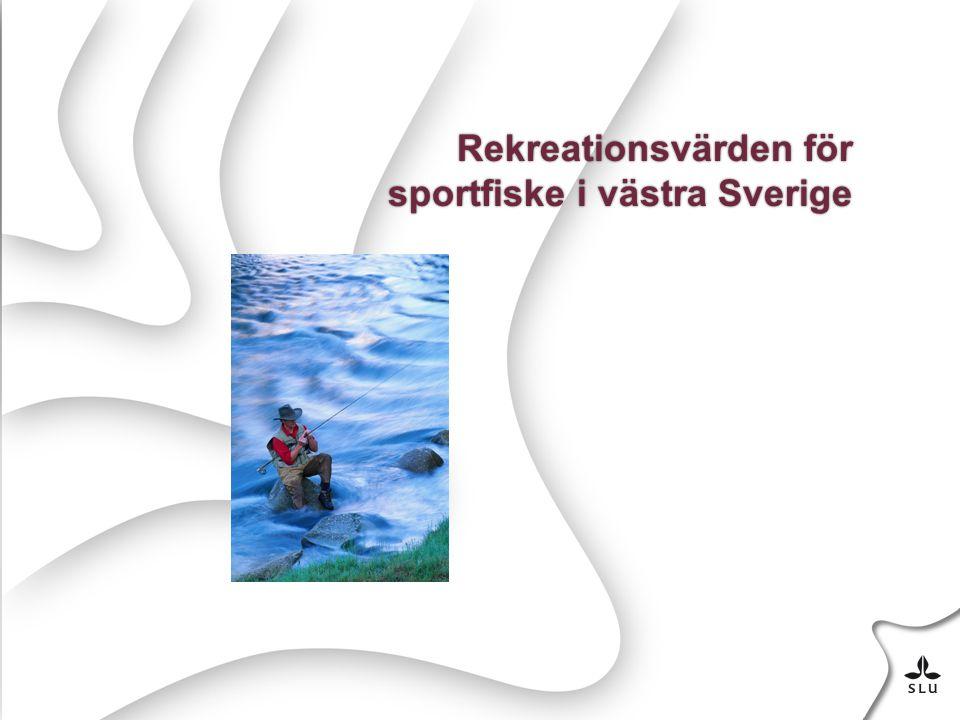 Rekreationsvärden för sportfiske i västra Sverige
