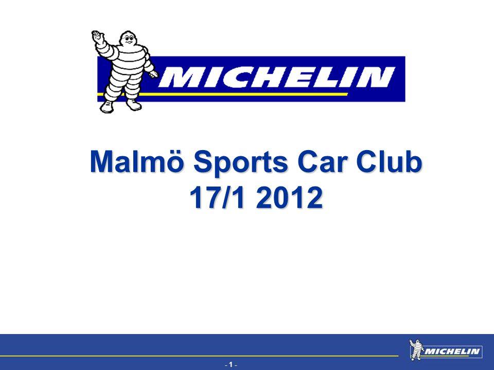 - 1 - EFV Malmö Sports Car Club 17/1 2012