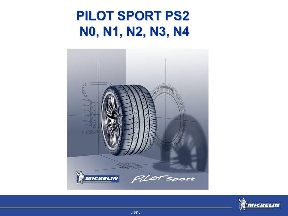 - 27 - EFV PILOT SPORT PS2 N0, N1, N2, N3, N4