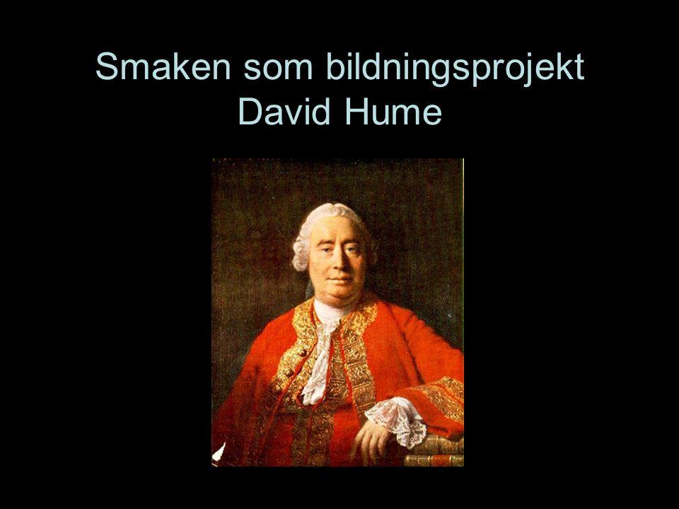 Smaken som bildningsprojekt David Hume