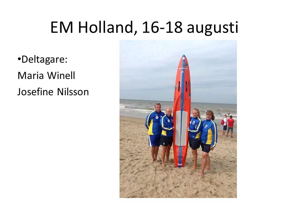EM Holland, 16-18 augusti Deltagare: Maria Winell Josefine Nilsson