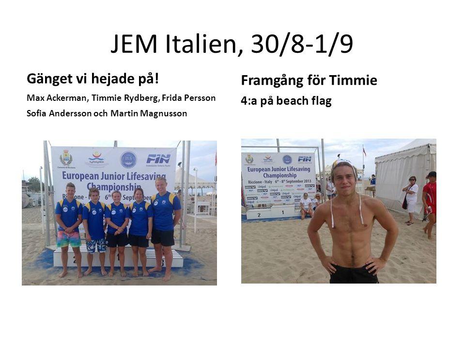 JEM Italien, 30/8-1/9 Gänget vi hejade på.