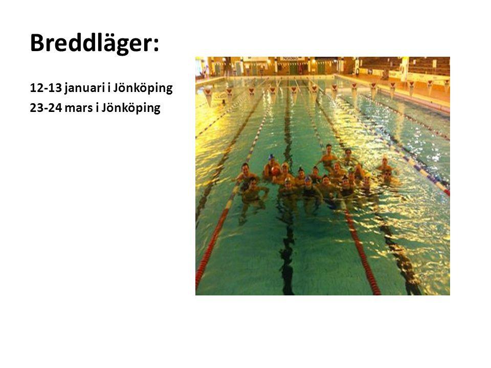 Breddläger: 12-13 januari i Jönköping 23-24 mars i Jönköping