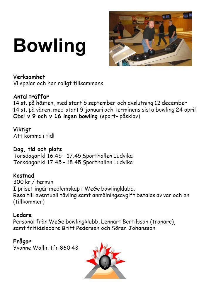 Gymträning Verksamhet Gymträning i grupp Plats ACTIC, Ludvika sporthall Dag och tid Onsdagar kl.