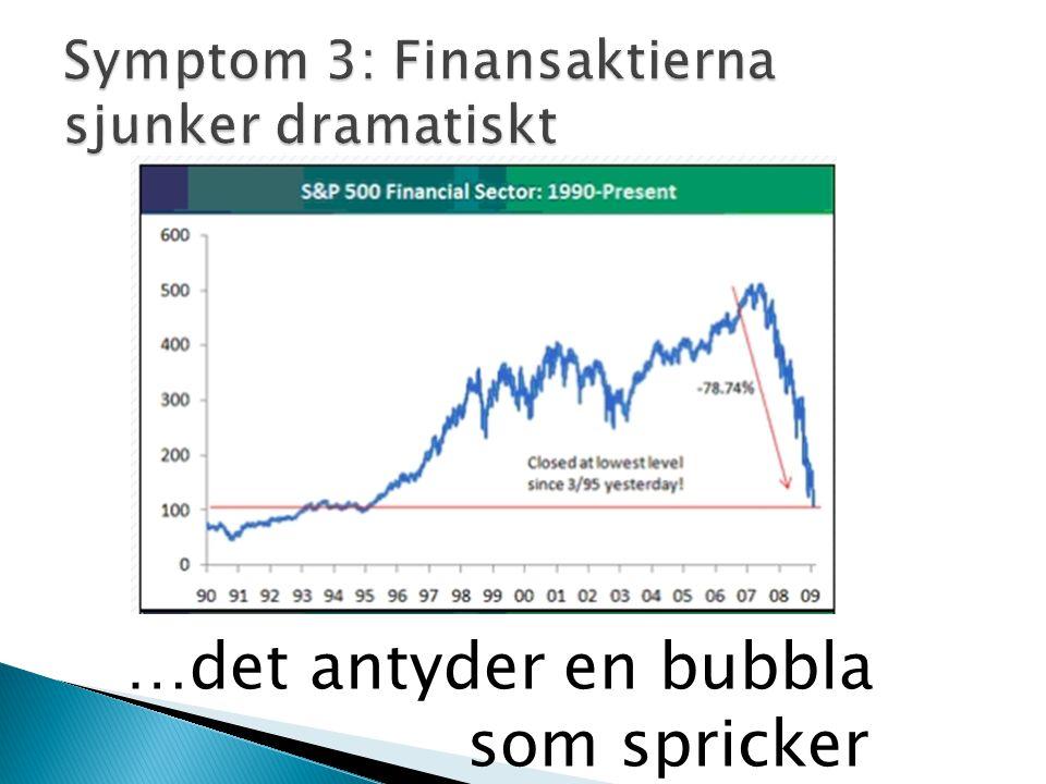…det antyder en bubbla som spricker