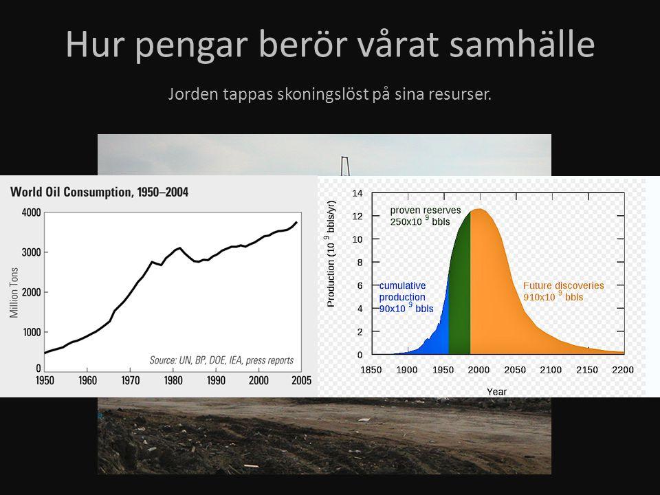 Jorden tappas skoningslöst på sina resurser.