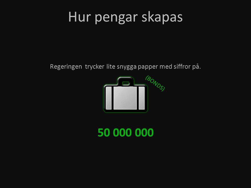 Regeringen trycker lite snygga papper med siffror på. Hur pengar skapas 50 000 000 (BONDS)