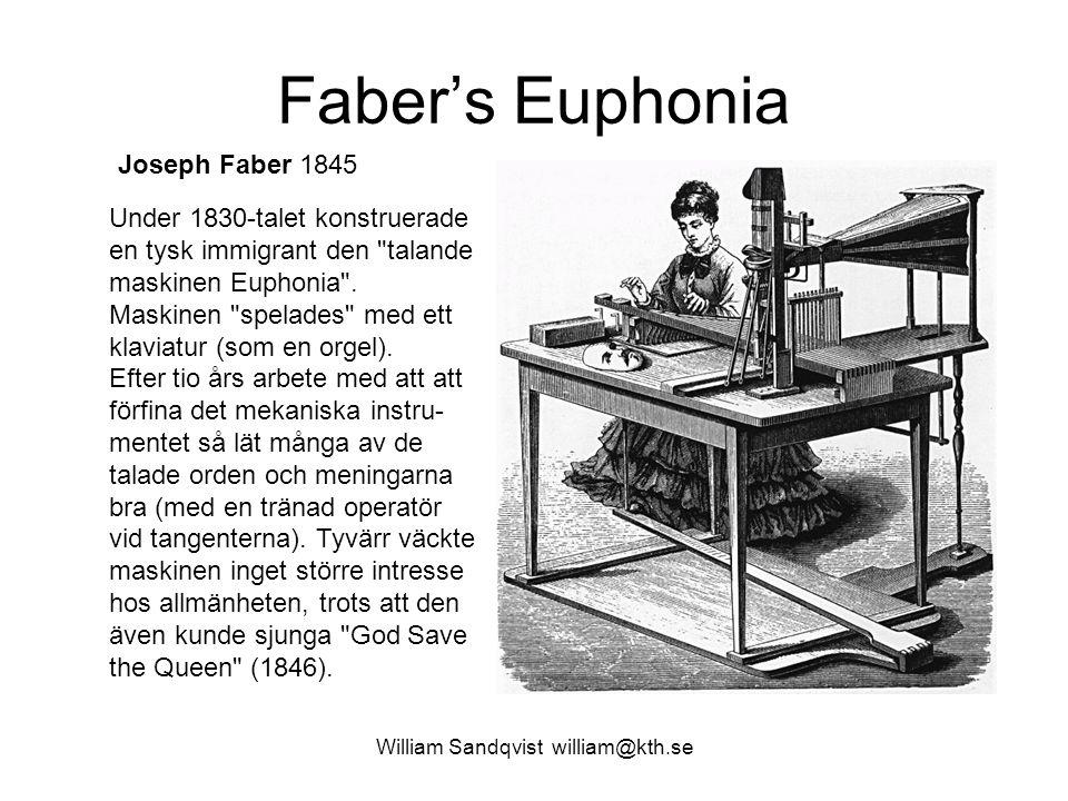 Faber's Euphonia Under 1830-talet konstruerade en tysk immigrant den