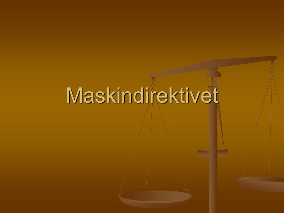 Maskindirektivet