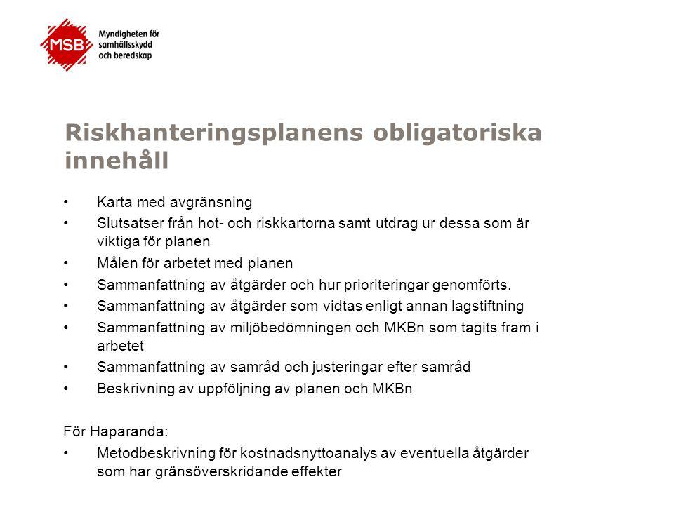 Fråga 3 Riskhanteringsplanerna ska samordnas inom vattendistriktet enligt 13 § i förordningen, hur skall det ske.