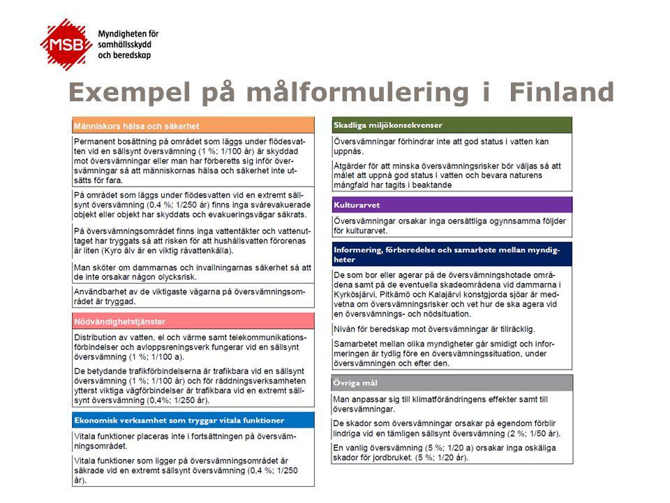 Bedömning om resultatmålen uppnås för 50-, 100- årsflöden och BHF Resultatmålen uppnås, inga förslag på åtgärdsmål behövs.