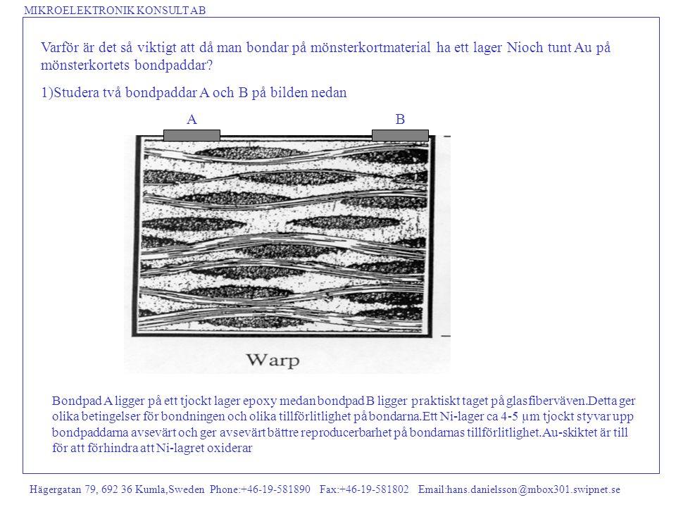 MIKROELEKTRONIK KONSULT AB Hägergatan 79, 692 36 Kumla,Sweden Phone:+46-19-581890 Fax:+46-19-581802 Email:hans.danielsson@mbox301.swipnet.se Varför är