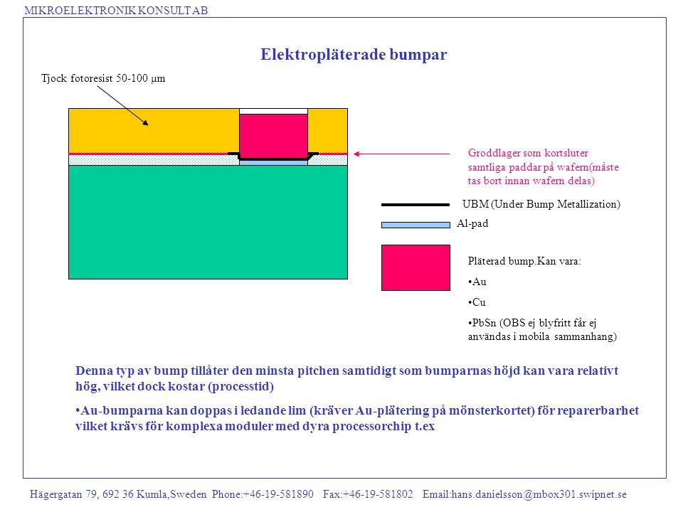MIKROELEKTRONIK KONSULT AB Hägergatan 79, 692 36 Kumla,Sweden Phone:+46-19-581890 Fax:+46-19-581802 Email:hans.danielsson@mbox301.swipnet.se Elektropl