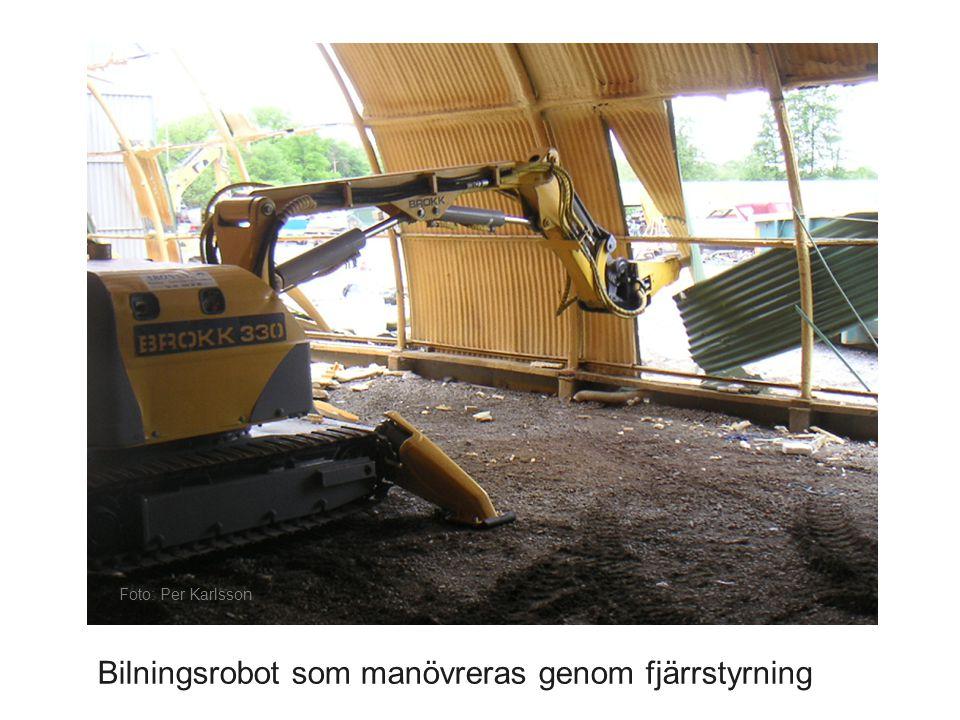 Foto: Per Karlsson Bilningsrobot som manövreras genom fjärrstyrning