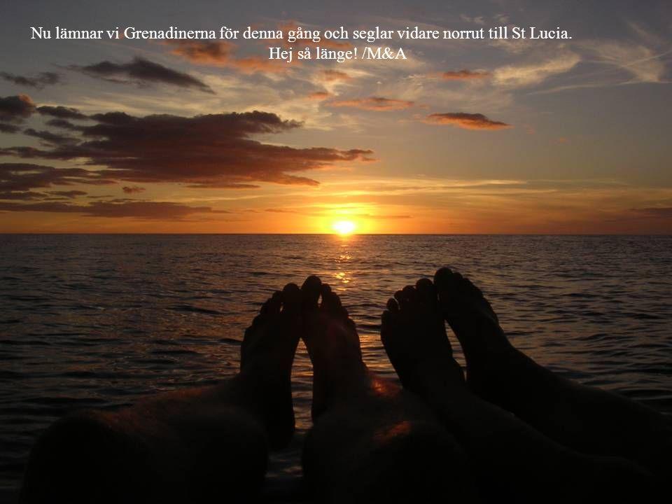 Nu lämnar vi Grenadinerna för denna gång och seglar vidare norrut till St Lucia. Hej så länge! /M&A