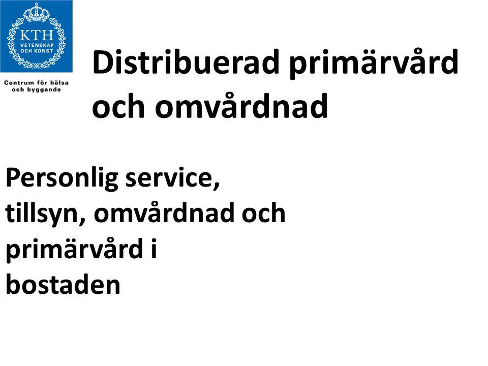 Distribuerad primärvård och omvårdnad Personlig service, tillsyn, omvårdnad och primärvård i bostaden