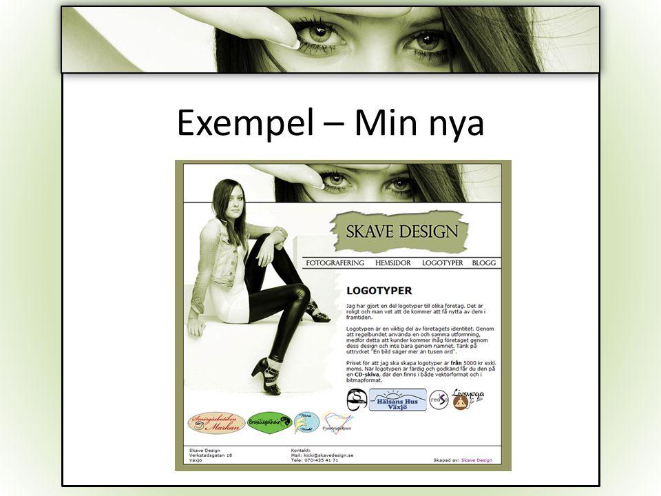 Exempel – Min nya