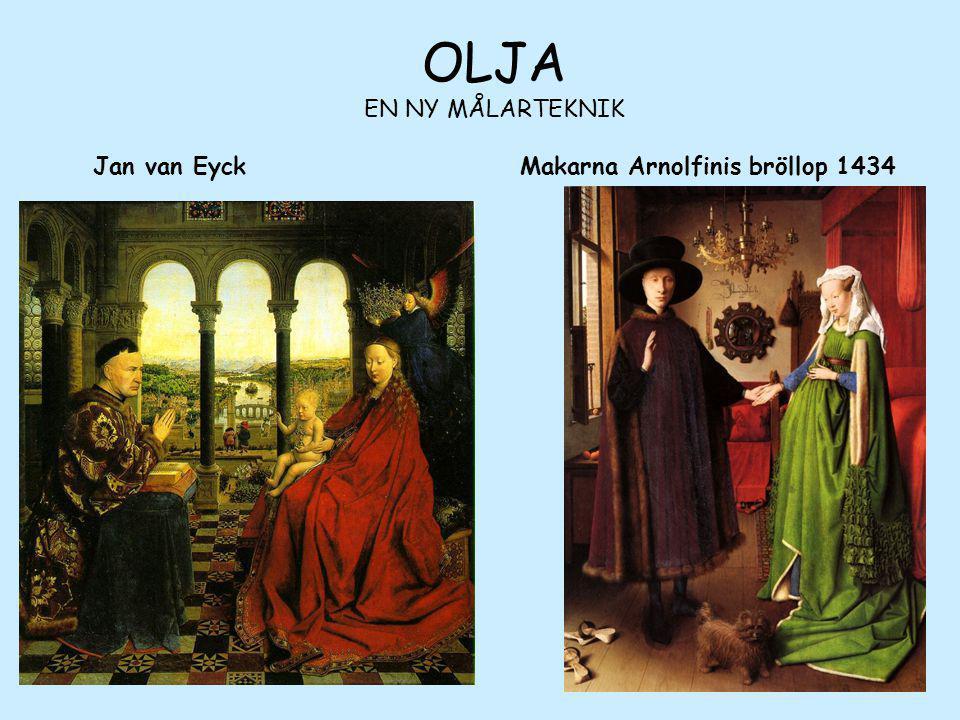 OLJA EN NY MÅLARTEKNIK Jan van Eyck Makarna Arnolfinis bröllop 1434