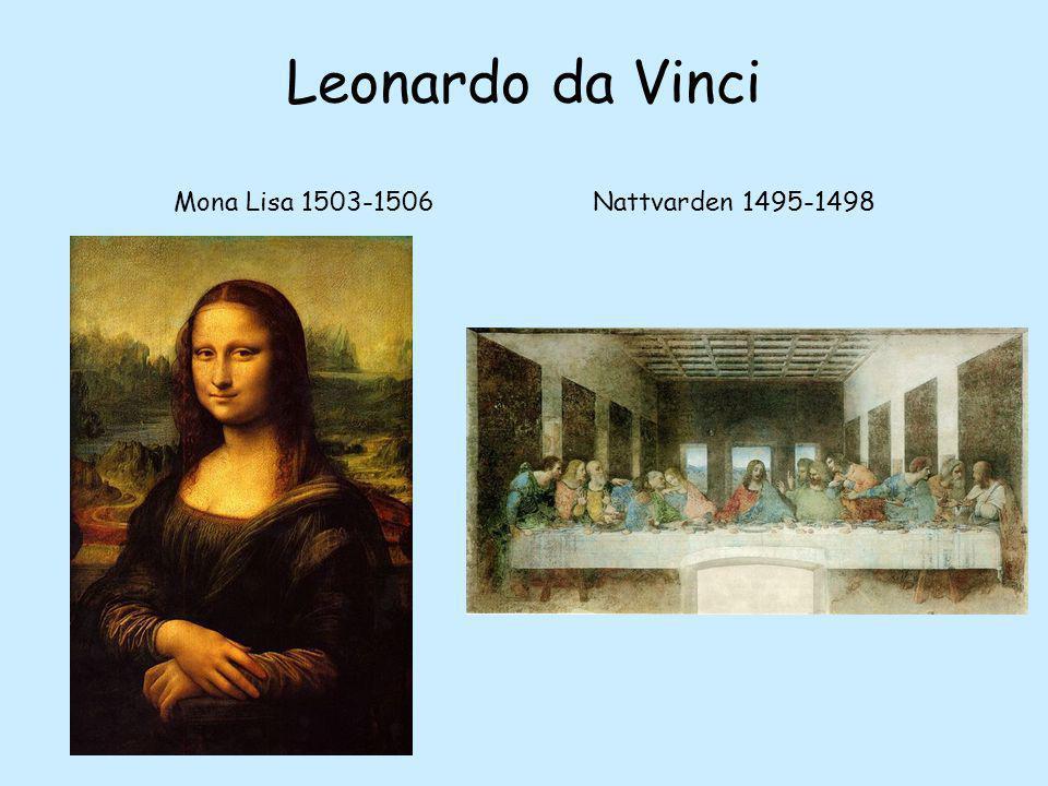 Leonardo da Vinci Mona Lisa 1503-1506 Nattvarden 1495-1498