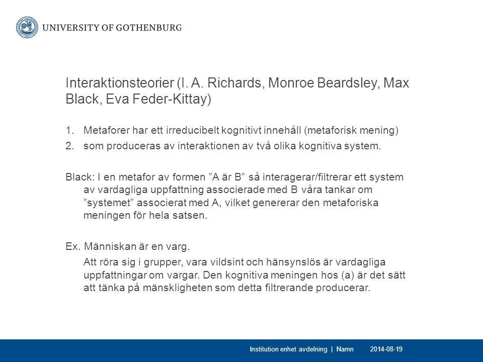 Interaktionsteorier (I.A.