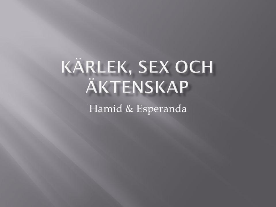 Hamid – liberal muslim i grunden, humanist  Esperanda – kristen katolik Möjligt för Hamid och Esperanda att gifta sig?
