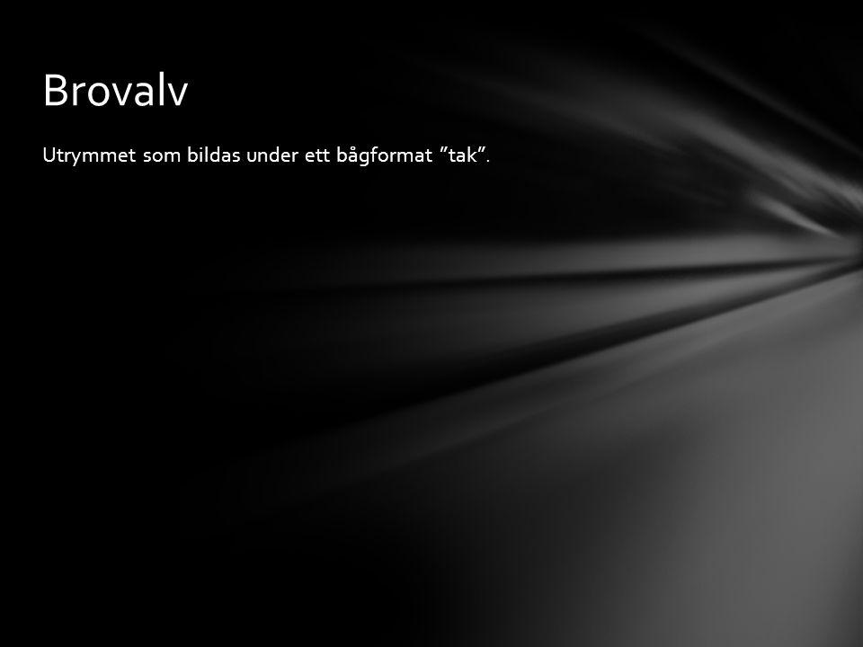 """Utrymmet som bildas under ett bågformat """"tak"""". Brovalv"""