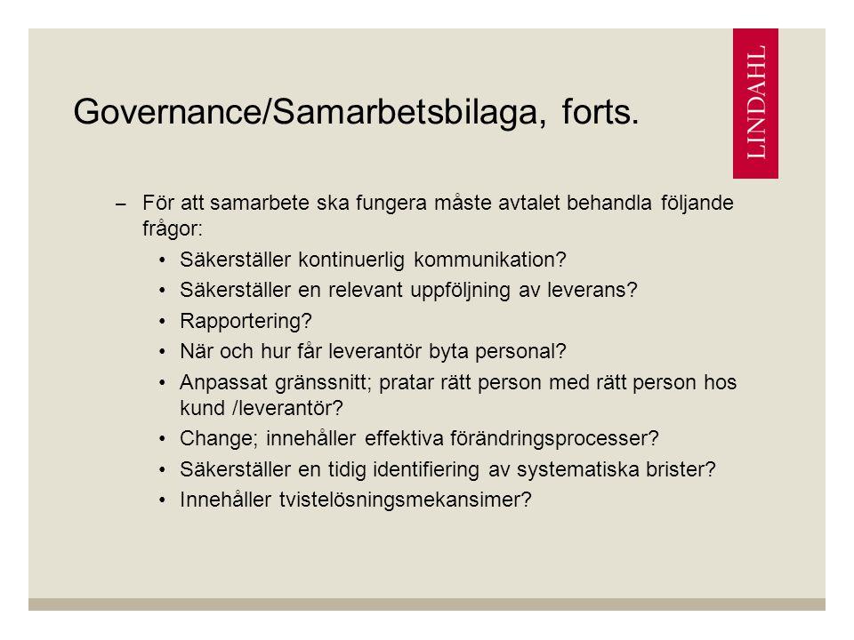 Governance/Samarbetsbilaga, forts.