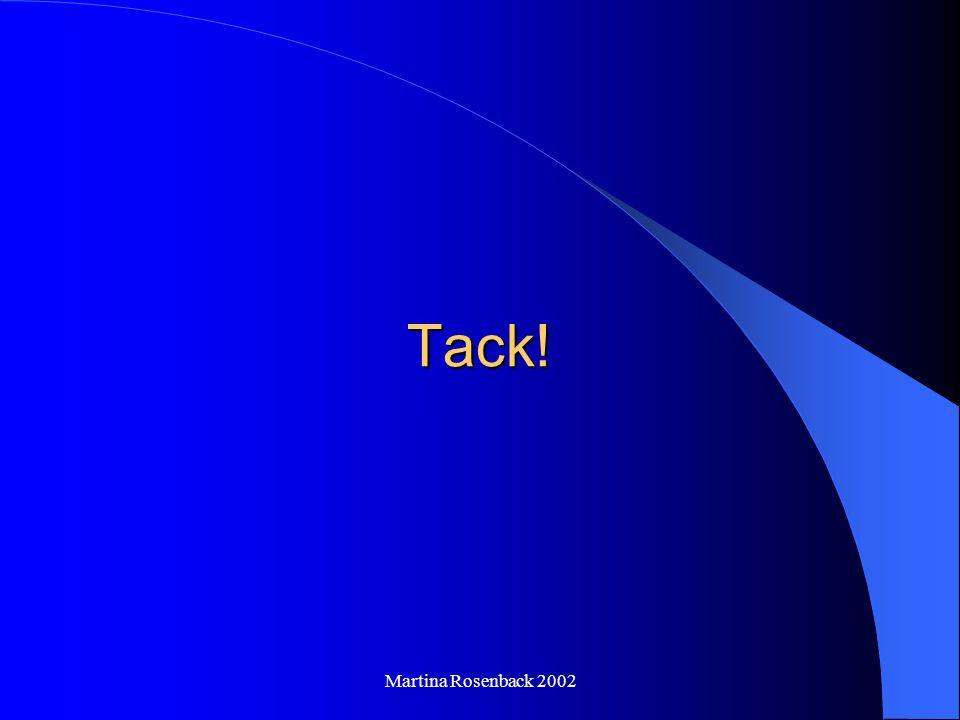 Martina Rosenback 2002 Tack!