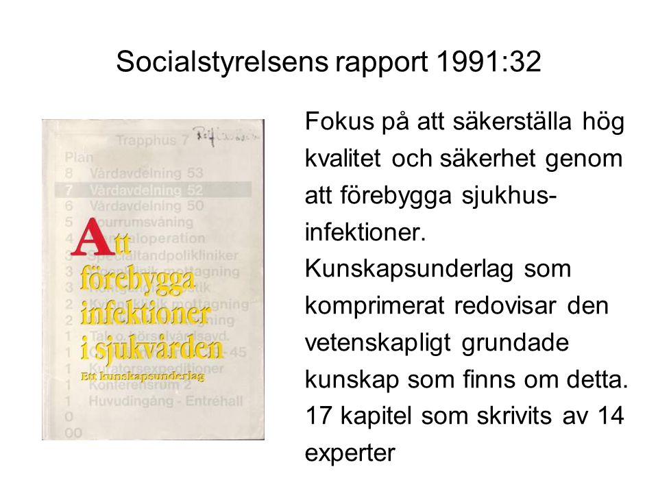 Socialstyrelsens rapport 1998:12 Aktualisering av SoS rapport 1991:32.