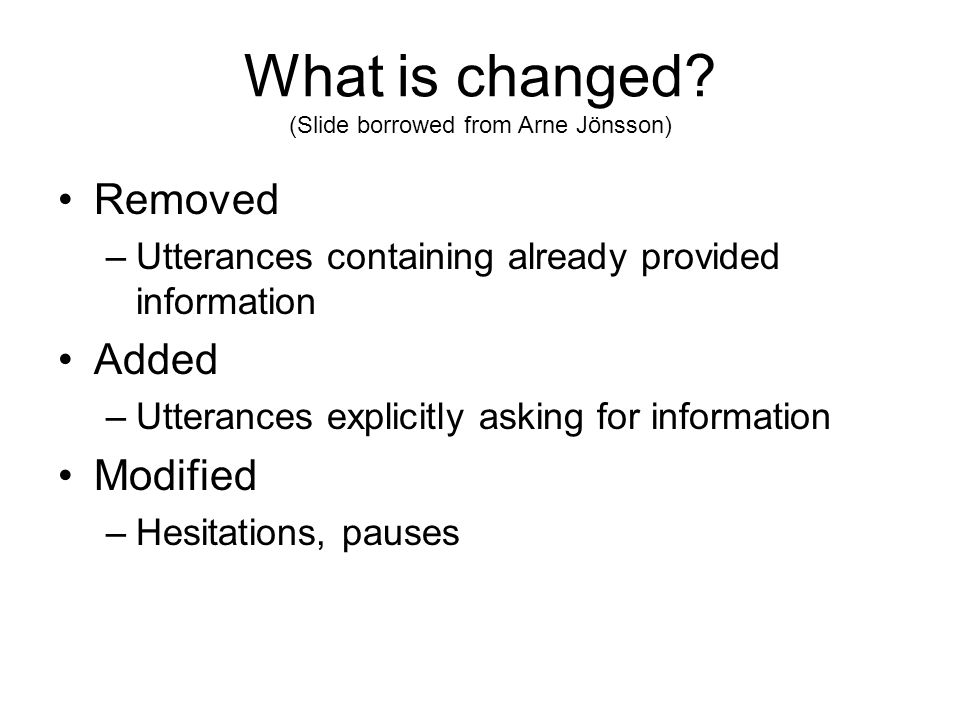 What is changed.