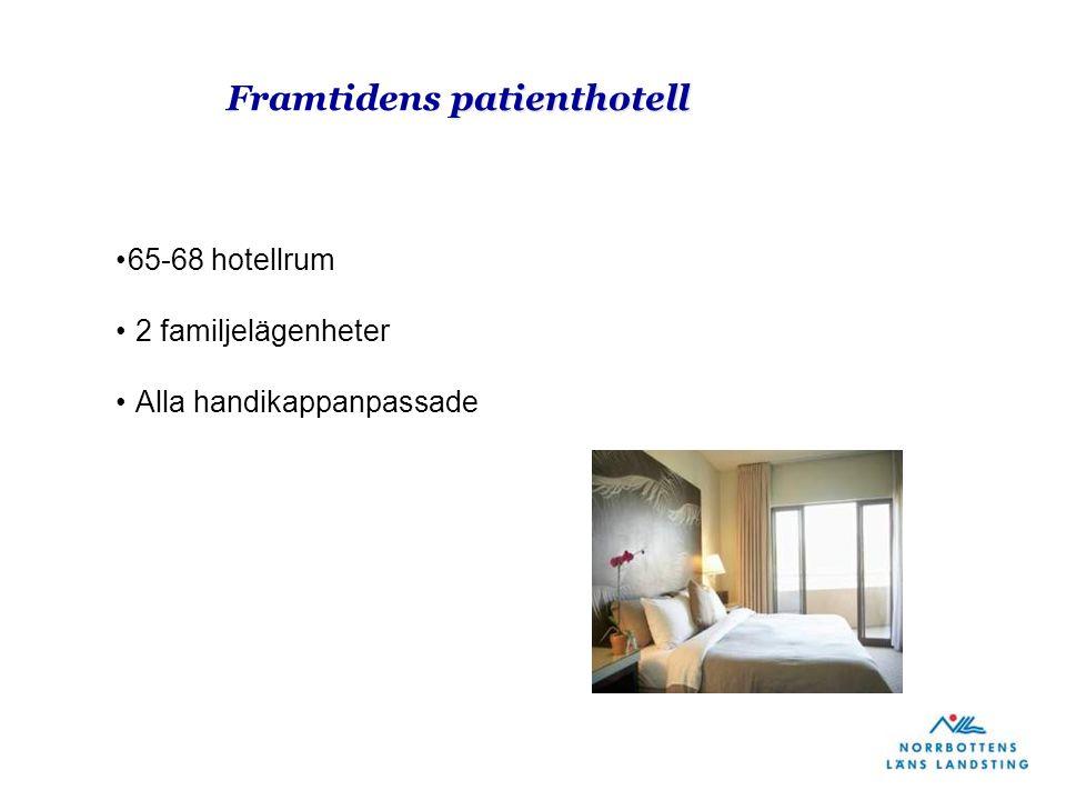 patienthotell Framtidens patienthotell 65-68 hotellrum 2 familjelägenheter Alla handikappanpassade