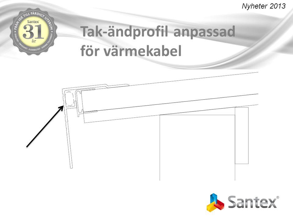Tak-ändprofil anpassad för värmekabel Nyheter 2013