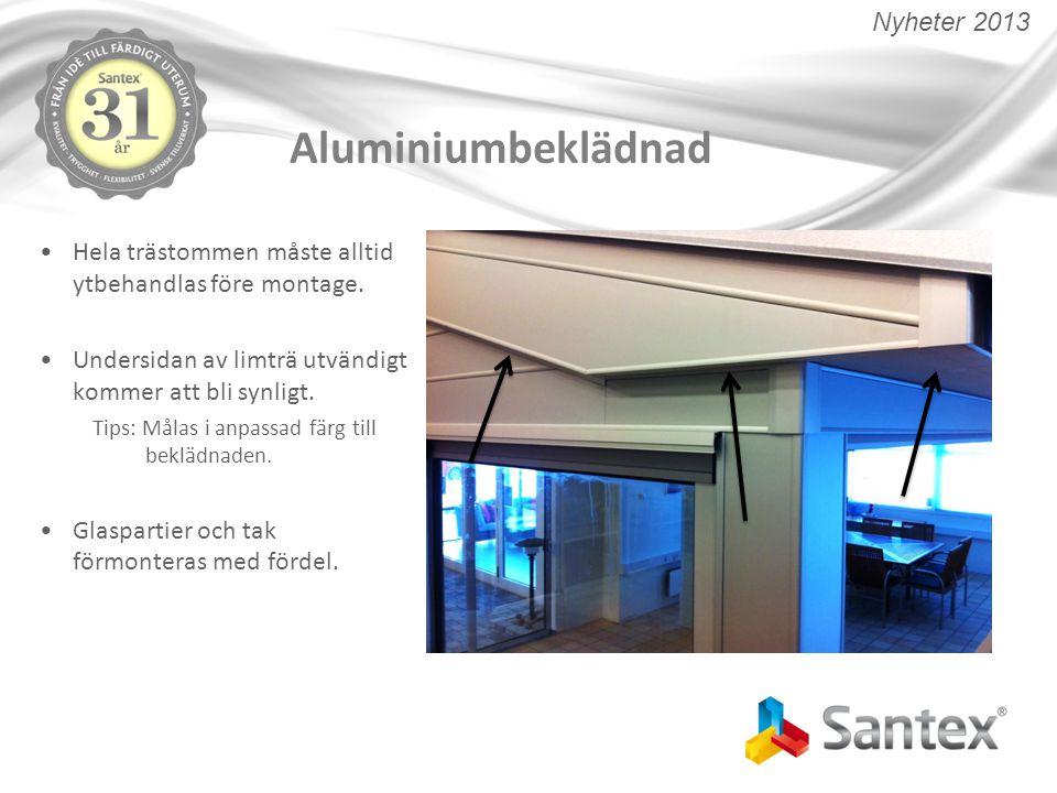 Aluminiumbeklädnad Nyheter 2013
