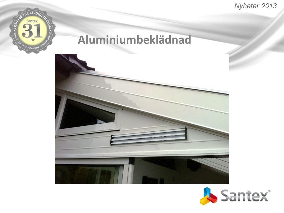 Tak-ändprofil anpassad för värmekabel Anpassad med kanal för värmekabel Bättre anslutning mot takplatta Utmärkt som efterförsäljning Införs som standard på 35 och 50mm tak (Ej 16 / 25 mm) Nyheter 2013