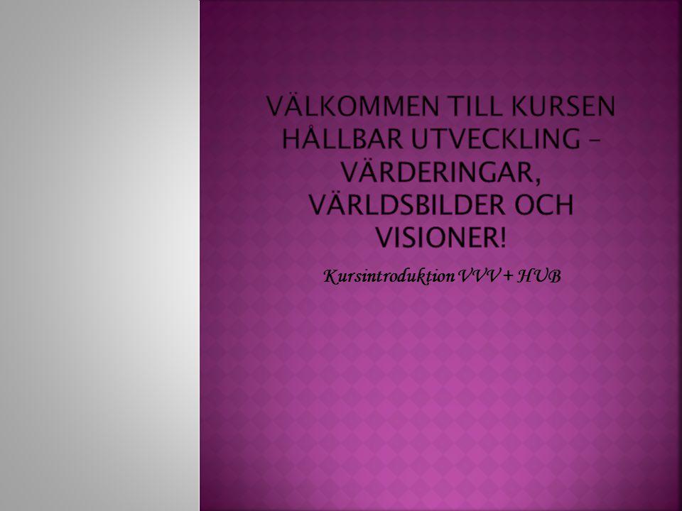 Kursintroduktion VVV + HUB