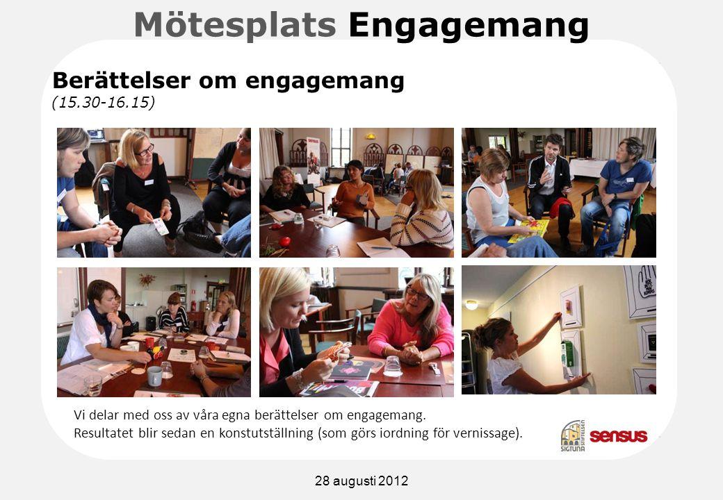 Mötesplats Engagemang Vi delar med oss av våra egna berättelser om engagemang.