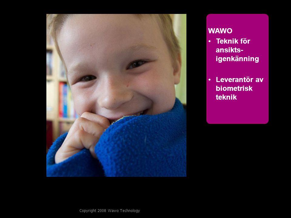 3 WAWO Teknik för ansikts- igenkänning Leverantör av biometrisk teknik
