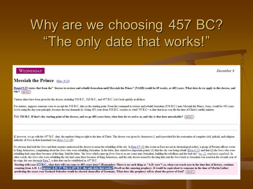 "Why are we choosing 457 BC? ""The only date that works!"""