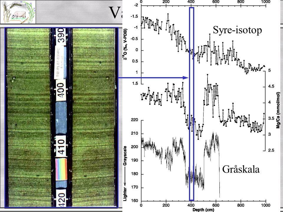 Andra metoder  Radiometriskametoder: - U series - radioaktiva isotoper av Uran - K-Ar ; 39 Ar- 40 Ar ; 210 Pb ; 10 Be; 137 Cs  Thermoluminescence (TL) - energin lagrad i kristallmatrisen (mineraler)  Optically Stimulated Luminescence (OSL)  Electron Spin Resonance (ESR)  Amino Acid Racematisation (AAR) - Äggskal, ben