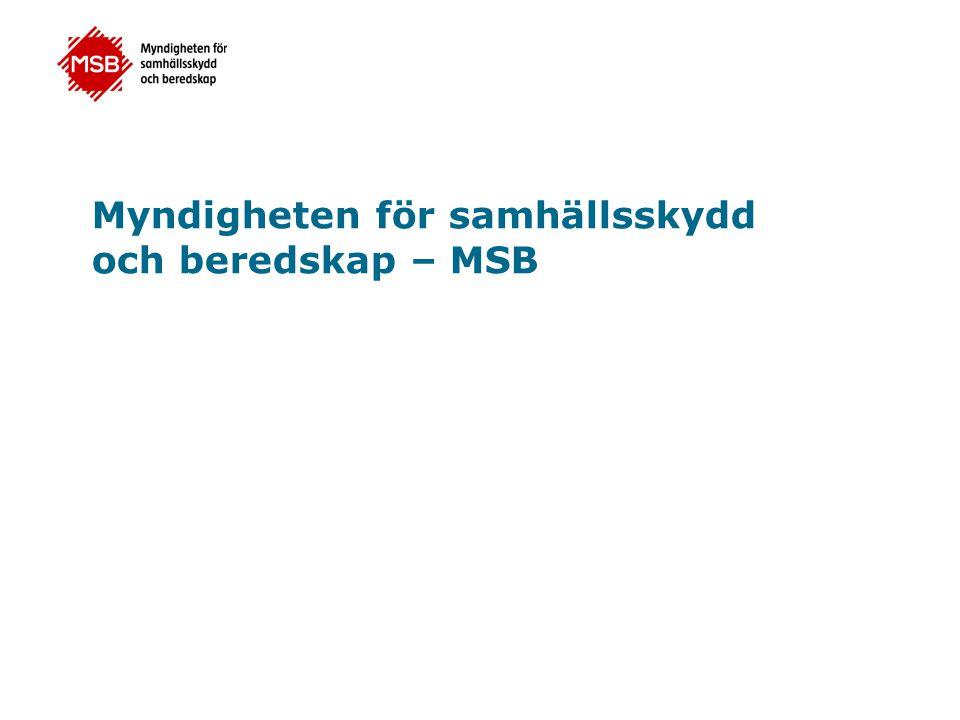 Myndigheten för samhällsskydd och beredskap – MSB