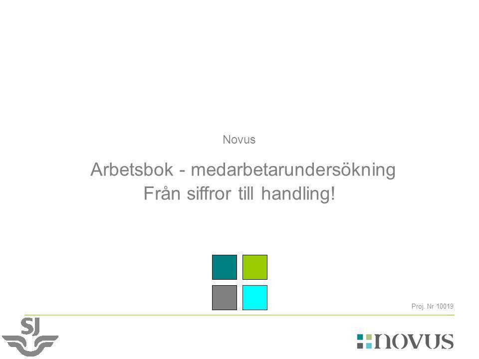 Novus Arbetsbok - medarbetarundersökning Från siffror till handling! Proj. Nr 10019