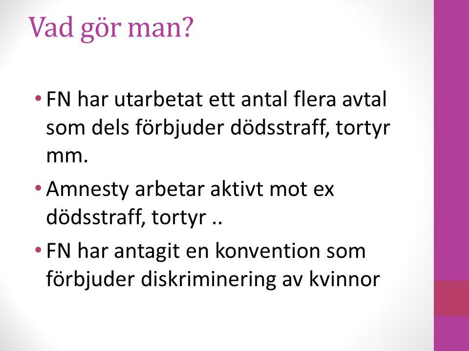 Vad gör Sverige.Hur ser det ut i Sverige med allt detta.