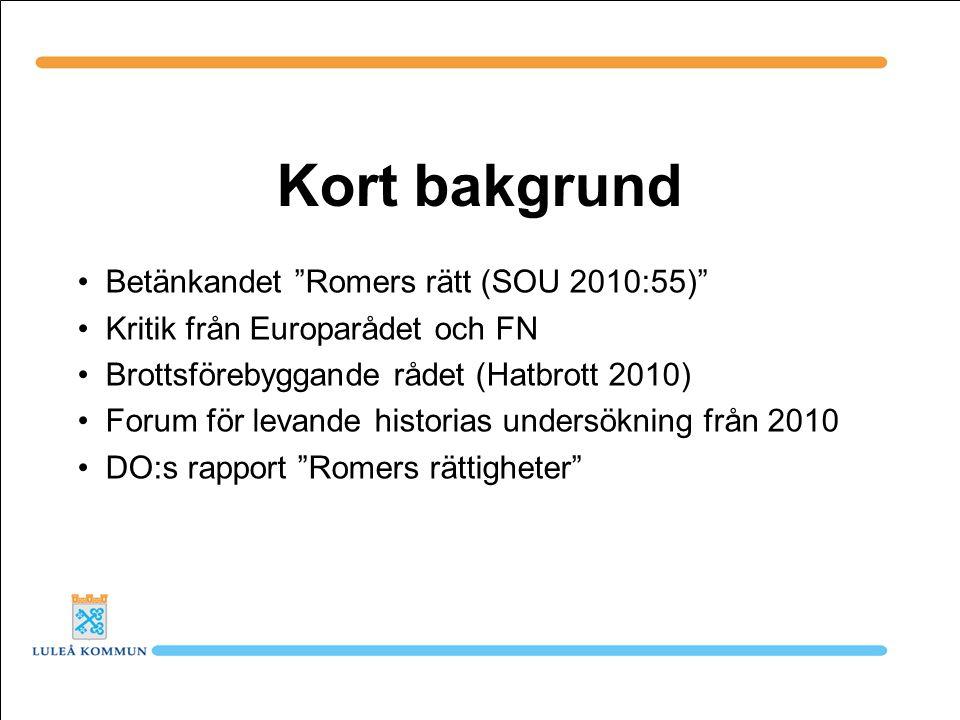 Plattform Regeringens skrivelse 2011/12:56: En samordnad och långsiktig strategi för romsk inkludering 2012-2032