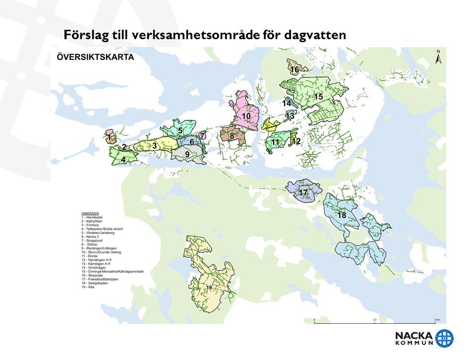 Förslag till verksamhetsområde för dagvatten