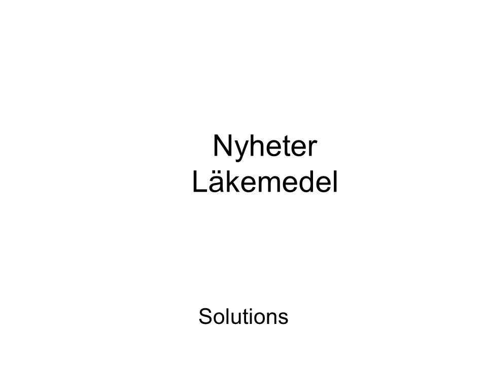 Nyheter Läkemedel Solutions