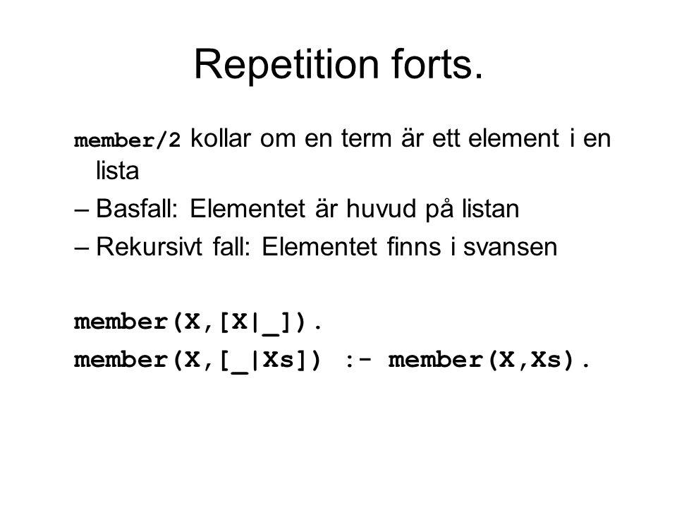 Mappning forts.En variant på mappning är att en term översätts till flera termer Ex.