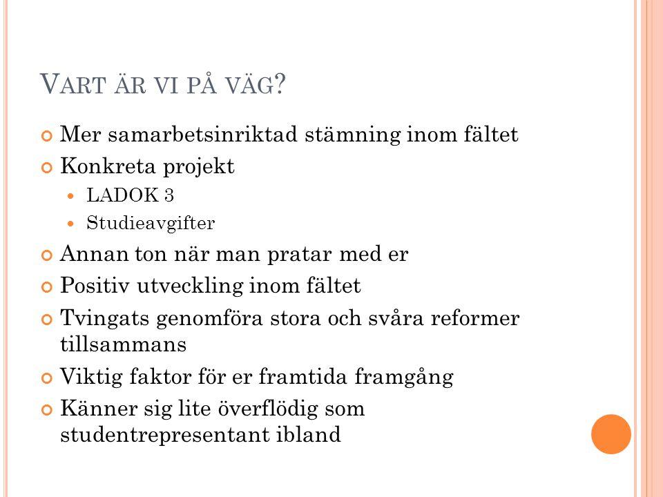 V ART ÄR VI PÅ VÄG .