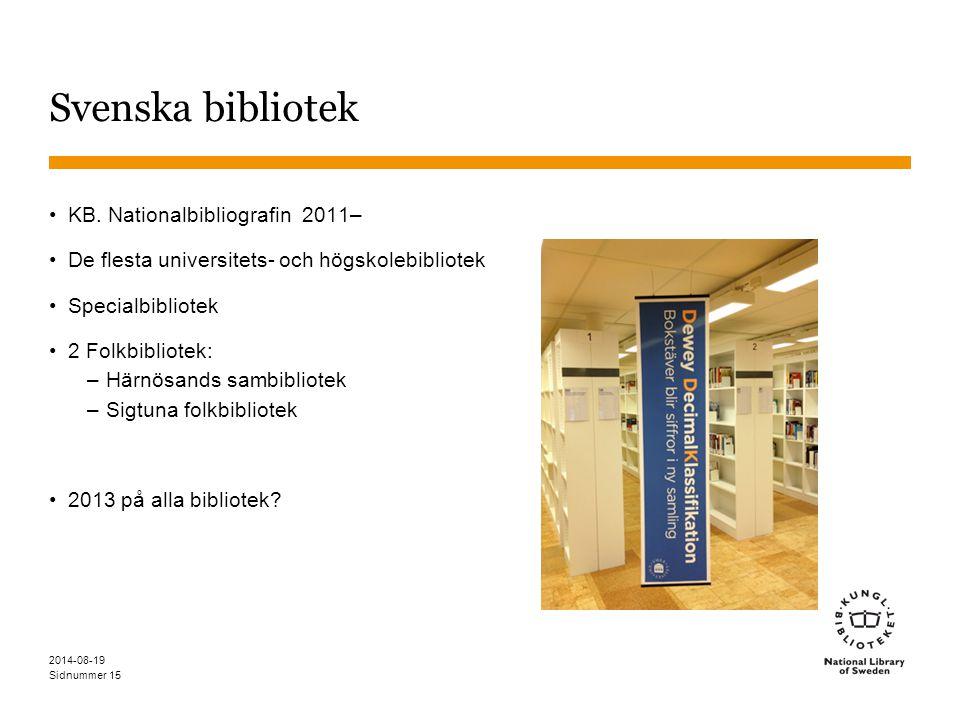 Sidnummer 2014-08-19 15 Svenska bibliotek KB.